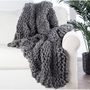 Divine Flint Gray Throw