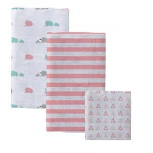 COTTON BABY BLANKET SET