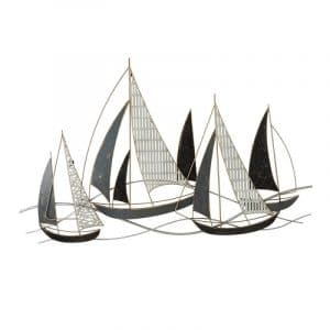 METAL 36″ BOAT WALL ACCENT, MULTI